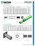Dayton Superior Taper-Lock Product Guide Detail Chart - Page 2
