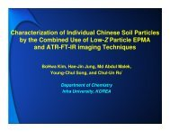 Characterization of Individual Chinese Soil Particles by the ...