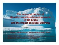 The seasonal burden of Dimethyl sulphide-derived aerosols in the ...