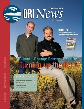 DRI Winter 2008 News - Desert Research Institute
