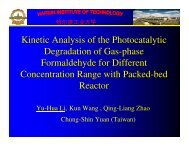Kinetic Analysis of the Photocatalytic Degradation of Gas-phase ...