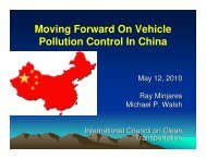 Moving Forward On Vehicle Pollution Control In China