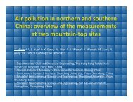 Air pollution in northern and southern China - Desert Research ...