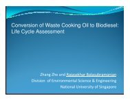 Conversion of Waste Cooking Oil to Biodiesel: Life Cycle Assessment