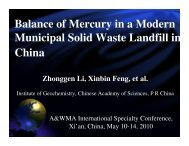 Balance of Mercury in a Modern Municipal Solid Waste Landfill in ...