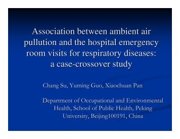Association between Ambient Air Pollution and the Hospital ...