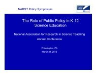 The Role of Public Policy in K-12 Science Education - Project 2061