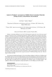 Analysis of Student' Assessment in Middle School Curriculum ...