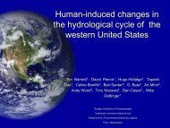 Human-induced changes in the hydrological cycle of ... - Project 2061