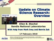 Update on Climate Science Research: Overview - Project 2061