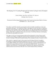 Developing a K-12 Learning Progression for Carbon ... - Project 2061