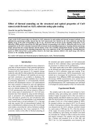 Effect of thermal annealing on the structural and optical properties of ...
