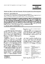 Particle size effects on the bone formation of hydroxyapatite/stem ...