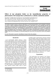 Effects of zinc phosphate binder on the immobilization properties of ...