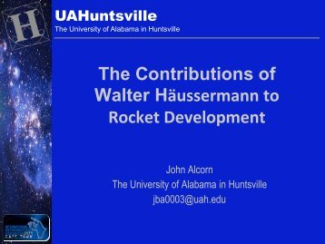 Presentation - University of Alabama in Huntsville