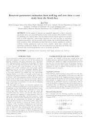 Reservoir parameters estimation from well log and core data: a case ...