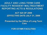 Maltreatment Reporting for ICFs/MR - Arkansas Department of ...