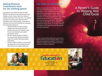 Parental Involvment Brochure - Arkansas Department of Human ...