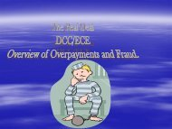 Overview of Overpayment and Fraud - Arkansas Department of ...