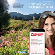 Sportwelt Aktuell Sommer 2014
