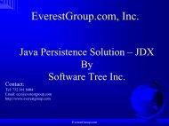 Java Persistence - Overview - Everestgroup.com