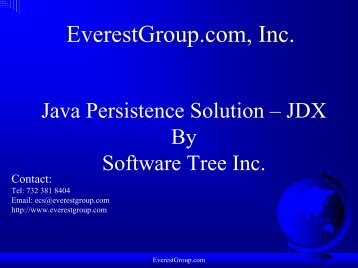 Java Persistence - Overview - Everestgroup.com
