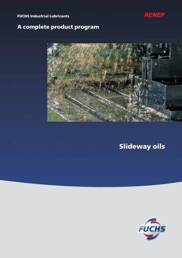 Slideway oils