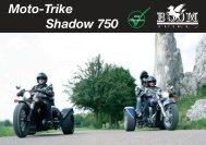Moto-Trike Shadow 750 PPKW - Boom Trikes