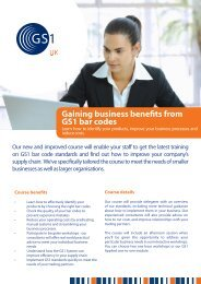 Gaining business benefits from GS1 bar codes - GS1 UK