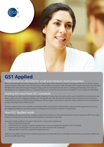 GS1 Applied brochure - GS1 UK