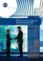 Solution Provider Programme Membership application - GS1 UK