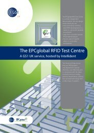 The EPCglobal RFID Test Centre - GS1 UK