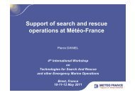 Support of search and rescue operations at Météo-France - Ifremer