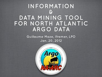 INFORMATION & DATA MINING TOOL FOR NORTH ... - ifremer