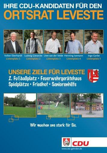 ORTSRAT LEVESTE - CDU Gehrden