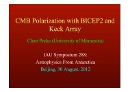 CMB Polarization with BICEP2 and Keck Array - University of ...
