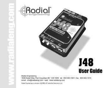 J48 user's manual - Radial Engineering