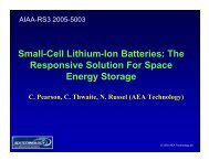 Small-Cell Lithium-Ion Batteries - Responsive Space