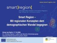 Mit regionalen Konzepten dem demographischen ... - Smart Region