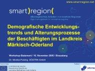 Demografische Entwicklungstrends und ... - Smart Region