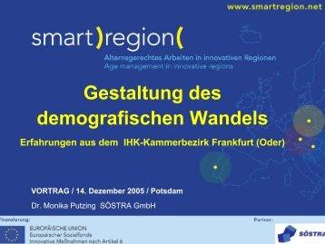 Demografischer Wandel im IHK-Kammerbezirk ... - Smart Region