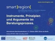 Instrumente, Prinzipien und Argumente im ... - Smart Region