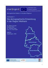 Die demographische Entwicklung in der Region ... - Smart Region