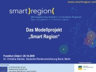 "Das Modellprojekt ""Smart Region"""
