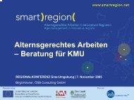 Alternsgerechtes Arbeiten – Beratung für KMU - Smart Region