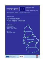 Der Arbeitsmarkt in der Region Weilheim - Smart Region
