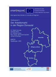 Der Arbeitsmarkt in der Region Donautal - Smart Region