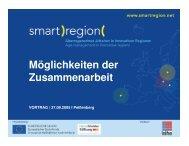 Möglichkeiten der Zusammenarbeit - Smart Region
