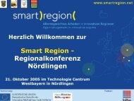 Grußworte - Smart Region