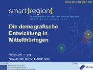 Die demografische Entwicklung in Mittelthüringen - Smart Region